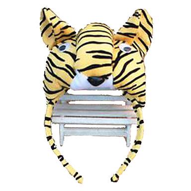voordelige Maskers voor de feestdagen-CHENTAO Hoofddeksel Tiger Pluche Unisex Speeltjes Geschenk 1 pcs