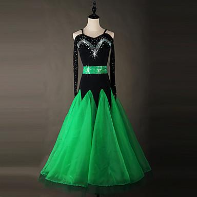 ボールルームのダンスドレス女性のパフォーマンスorganza dress shallwe®
