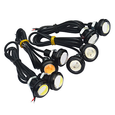 JIAWEN 2pcs Bil Elpærer 3W COB LED utvendig Lights / Baklys / Dagkjøringslys