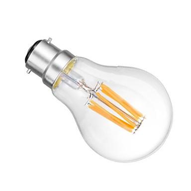 B22 LED-pallolamput A60(A19) 6 ledit COB Himmennettävissä Lämmin valkoinen 2800-3200lm 2800-3200KK AC 220-240 AC 110-130V