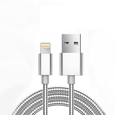 USB 2.0 Adaptador de cabo USB Normal Entrançado Cabo Para iPad Apple iPhone 98 cm Alumínio Metal