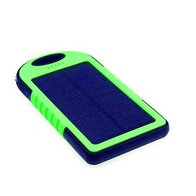 5000 mAh Para Bateria externa do banco de potência 5 V Para 1 A / # Para Carregador de bateria Lanterna / Recarga com Energia Solar / Ultra Fino LED