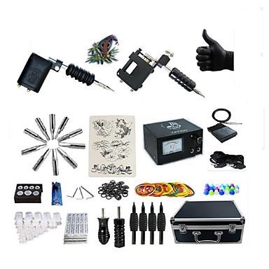 BaseKey Máquina de tatuagem Kit de tatuagem profissional - 2 pcs máquinas de tatuagem, Profissional Fonte de Alimentação Analógica Capa
