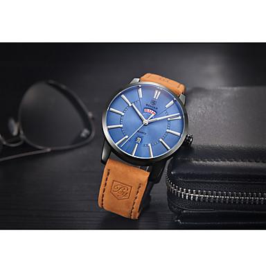 baratos Relógios Senhora-Homens Relógio Esportivo Quartzo / Couro Banda Vintage Marrom