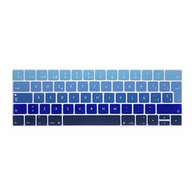 xskn® europeisk spansk gradient silikon tastatur hud og berøringsfeltet beskytter for 2016 nyeste macbook pro 13.3 / 15.4 med berørings