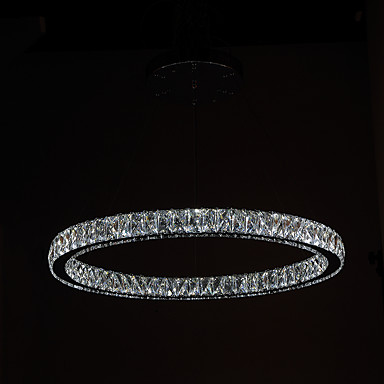 Kreisförmig Kronleuchter Moonlight Galvanisierung Metall Kristall, LED 90-240V Wärm Weiß / Kühl Weiß LED-Lichtquelle enthalten / integrierte LED / 4-pin