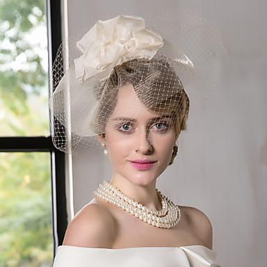 Seda / Rede Fascinadores / Chapéus com 1 Casamento / Ocasião Especial / Casual Capacete