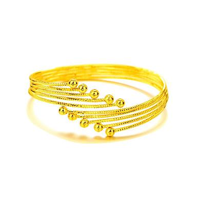 Bracelete - Chapeado Dourado Boêmio, Natureza, Fashion Pulseiras Dourado Para Presentes de Natal / Casamento / Festa