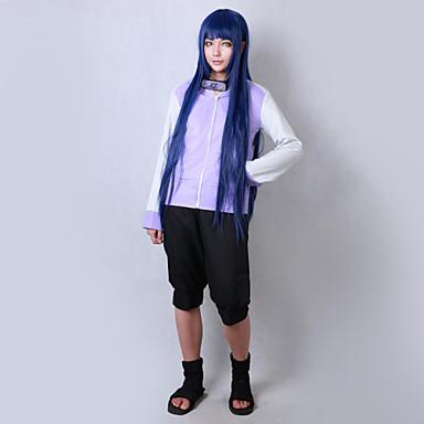 Inspirado por Naruto Hinata Hyuga Animé Disfraces de cosplay Trajes Cosplay Un Color Manga Larga Chaqueta / Pantalones cortos Para Hombre / Mujer