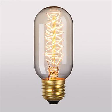 1PC 40 W E26 / E27 T45 أبيض دافئ 2300 k مكتب  /  الأعمال / ديكور المتوهجة خمر اديسون ضوء لمبة 220-240 V