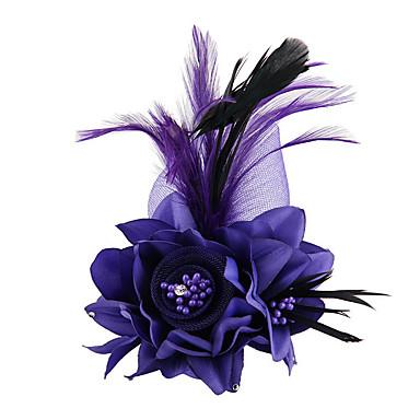 abordables Coiffes-Tissu / Satin Fascinators / Fleurs / Outil de cheveux avec 1 Mariage / Occasion spéciale / De plein air Casque