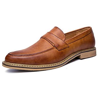Herrn Schuhe PU Sommer Herbst formale Schuhe Loafers & Slip-Ons für Normal Büro & Karriere Party & Festivität Schwarz Gelb Khaki