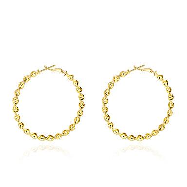 للمرأة أقراط الزر - مطلية بالذهب أساسي ذهبي من أجل زفاف حزب يوميا