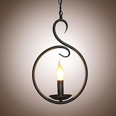 Luzes Pingente Luz Ambiente Acabamentos Pintados Metal Estilo Vela 110-120V / 220-240V Lâmpada Não Incluída / E12 / E14