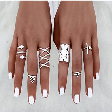 ieftine Inele la Modă-Pentru femei Aliaj femei Neobijnuit Design Unic Vintage Inele la Modă Bijuterii Argintiu Pentru Zilnic Casual O Mărime
