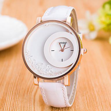 93e3315a361 Mulheres Relógio Esportivo Relógio de Pulso Simulado Diamante Relógio  Quartzo Couro Legitimo Cores Múltiplas Mostrador Grande Analógico senhoras  Amuleto ...