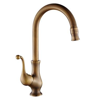 Kitchen faucet - Single Handle One Hole Antique Copper Standard Spout Vessel Antique Kitchen Taps