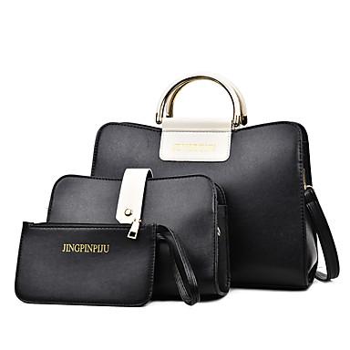 Damen Taschen PU Bag Set 3 Stück Geldbörse Set für Ganzjährig Weiß Schwarz Rote Grau