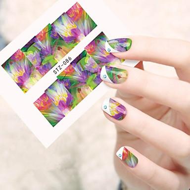 10pcs/set Adesivo de transferência de água arte de unha Manicure e pedicure Fashion Diário