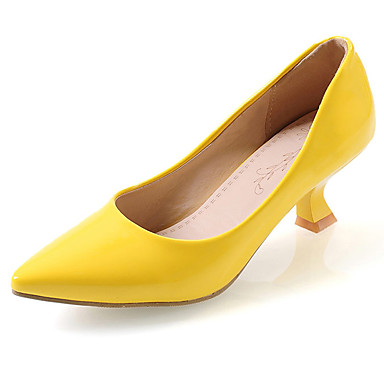 cfb477bb60 Women's Shoes Leatherette Spring Summer Comfort Heels Chunky Heel Pointed  Toe for Casual Office & Career Dress Black Yellow Red Green Pink