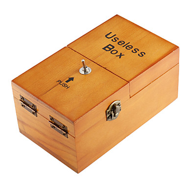 NEJE Wooden Useless Fully Assembled Machine Box Toy with Logo