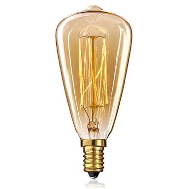 1db 40W E14 E12 ST48 2300k Izzólámpa Vintage Edison izzó 220-240V
