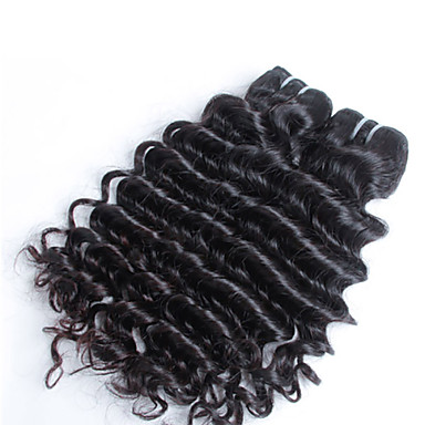 3 шт / много индийских расширения храм волос, 100% необработанной высокое качество глубокая волна индийские волосы