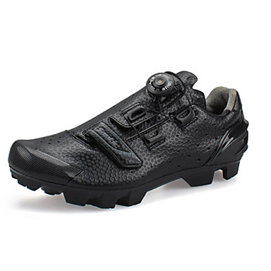 cheap Cycling Shoes-SANTIC Mountain Bike Shoes Carbon Fiber Breathable Anti-Slip Cycling Black Men's Cycling Shoes / Synthetic Microfiber PU / Forged Microlock Buckle and Strap Adjuster