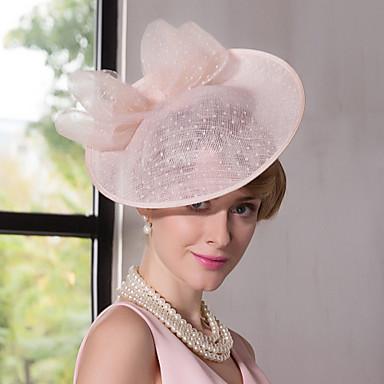 abordables Coiffes-dentelle de lin fascinateurs chapeaux bandeau classique style féminin