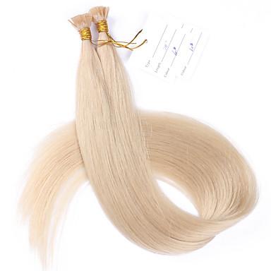 Fusion / V Tip شعر إنساني إمتداد مستقيم وصلات شعر طبيعي شعر مستعار طبيعي للمرأة