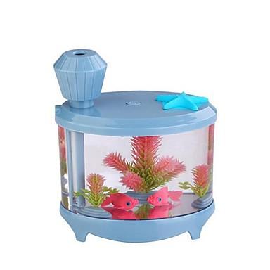 حوض للأسماك المرطب مصغرة الهواء المنزلية الرطوبة تنقية USB المرطب بالموجات فوق الصوتية مصباح الليل الصغيرة