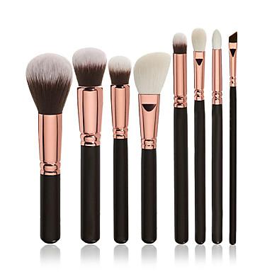 8pçs Pincéis de maquiagem Profissional Conjuntos de pincel / Pincel para Blush / Pincel para Sombra Pêlo Sintético Profissional /