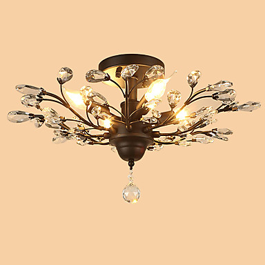 LightMyself™ 4-luz Montage de Flujo Luz Ambiente - Cristal, Los diseñadores, 110-120V / 220-240V Bombilla no incluida / 15-20㎡