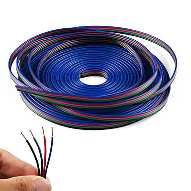 hesapli Aydınlatma Aksesuarları-kwb 20m 4-pin rgb uzatma kablosu tel kablosu 5050 3528 renk değiştiren esnek led şerit ışık