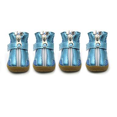 Cachorro Sapatos e Botas Fashion Esportes Sólido Prata Laranja Fúcsia Verde Azul Para animais de estimação