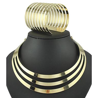 Mulheres Conjunto de jóias - Fashion, Euramerican Incluir Bracelete / Colarinho Dourado / Prata Para Festa / Diário