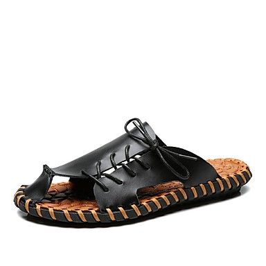 Homens Sapatos Pele Primavera Verão Outono Conforto Sandálias Tênis Anfíbio para Casual Escritório e Carreira Ao ar livre Social Branco