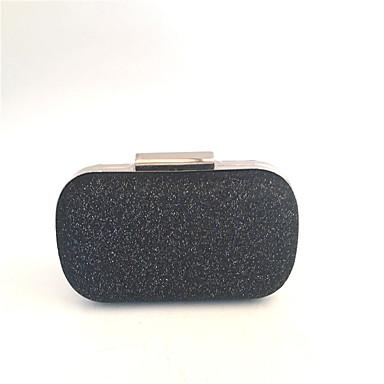 שקיות PU / מתכת תיק ערב כפתורים ל חתונה / מסיבה פול / שחור