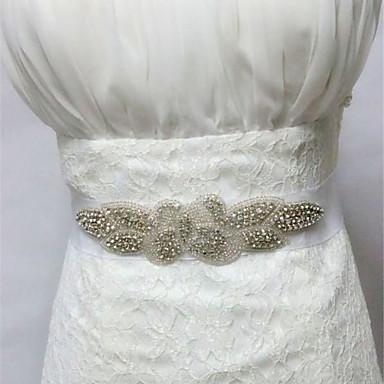 abordables Foulards de Soirée-taffetas de mariage en satin avec des appliques en strass style élégant