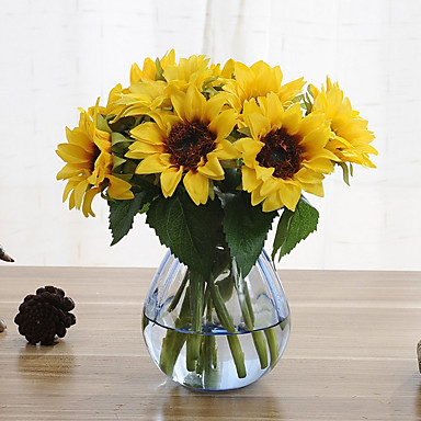 cheap Home Decor-6 Branches Sunflower Artificial Flowers Home Decoration Wedding Supply