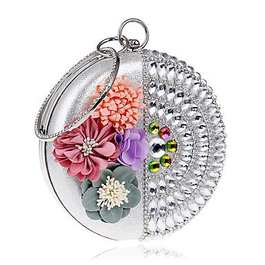 Mulheres Bolsas PU Bolsa de Festa Pérolas Sintéticas Flor para Casamento Festa / Eventos Casual Formal Escritório e Carreira Primavera
