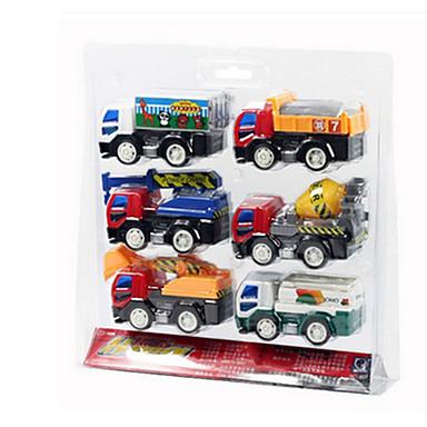Veiculo de Construção Caminhões & Veículos de Construção Civil Carros de Brinquedo 1:25 Carrinhos de Fricção Plástico ABS 6pcs Unisexo