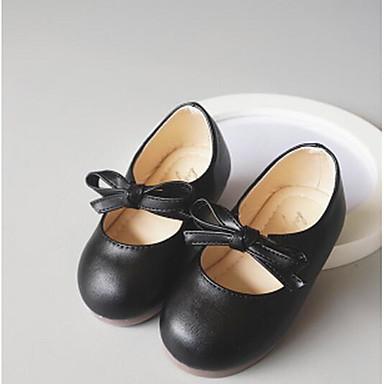 여아 구두 PU 봄 가을 컴포트 샌들 플랫 제품 캐쥬얼 화이트 블랙 핑크