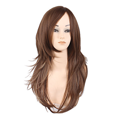 Synthetic Wig Curly / kinky Straight / Deep Wave Layered Haircut / Asymmetrical Haircut Synthetic Hair Ombre Hair / Natural Hairline Dark Brown Wig Women's Medium Length / Long Capless