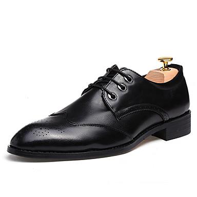 Homens Bullock Shoes Tecido Primavera / Outono Conforto Oxfords Caminhada Preto / Cinzento / Vinho