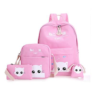 2dd94e434a1f6 للأطفال أكياس قماش حقيبة مدرسية إلى فضفاض الرياضة كل الفصول أخضر أسود وردي  بلاشيهغ البيج رمادي