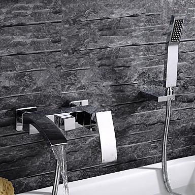 حنفية حوض الاستحمام - معاصر الكروم مثبت على الحائط صمام سيراميكي / التعامل مع واحد ثلاثة ثقوب