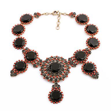 billige Mote Halskjede-Dame Krystall Strands halskjede Personalisert Vintage Euro-Amerikansk Chrome Brun Rosa Halskjeder Smykker Til Bryllup Fest Gratulerer