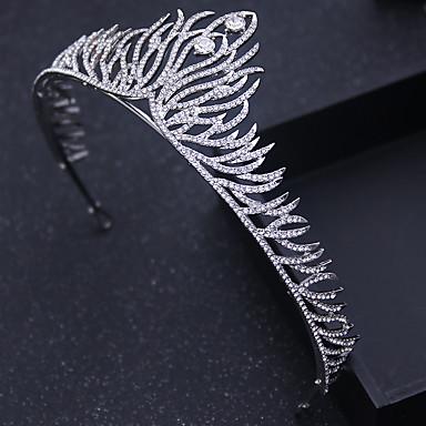 Cristal Strass Liga Tiaras Headbands Pino de cabelo 1 Casamento Ocasião Especial Ao ar livre Capacete