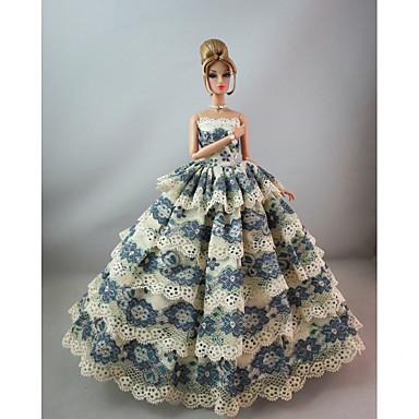 파티/이브닝 드레스 에 대한 바비 인형 레이스 공단 드레스 에 대한 여자의 인형 장난감